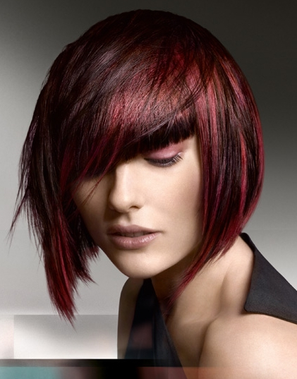 Hairstyle simple bob with red cherry