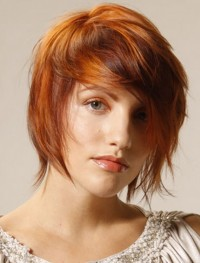 Shaded natural red hair