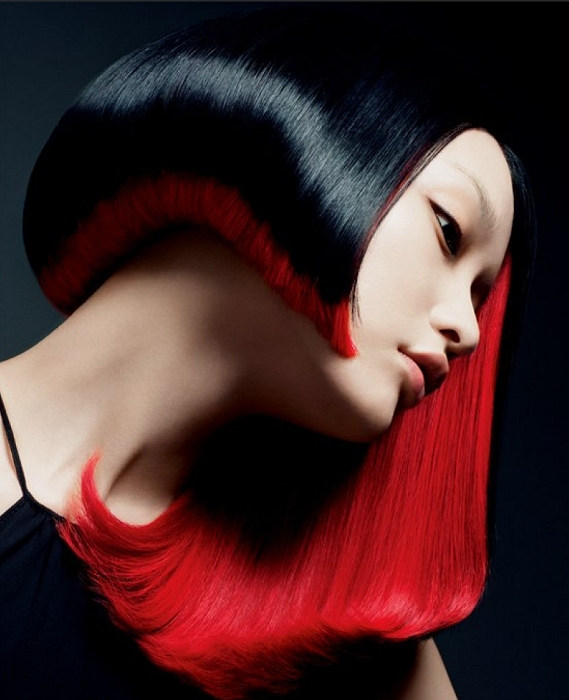 black and red hair