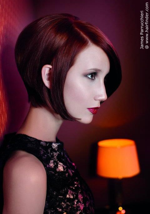 dark red bob | Hairstyles | Hair-photo.com