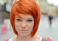 orange-red hair