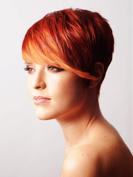 reddish orange bob