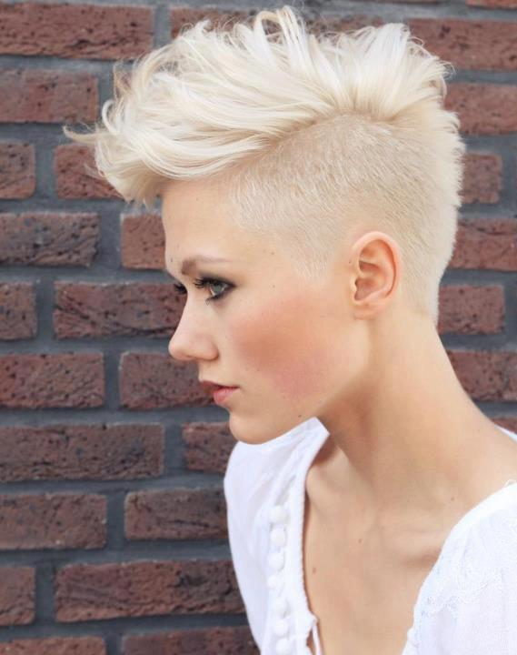 short blonde hair shaved side