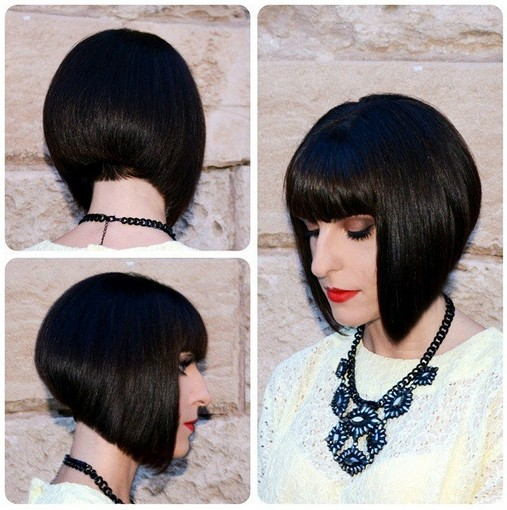 Cute Easy Short Stacked Bob Haircuts For Blunt Bangs Hairstyles