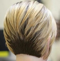 Classic Short Bob Haircut Back View