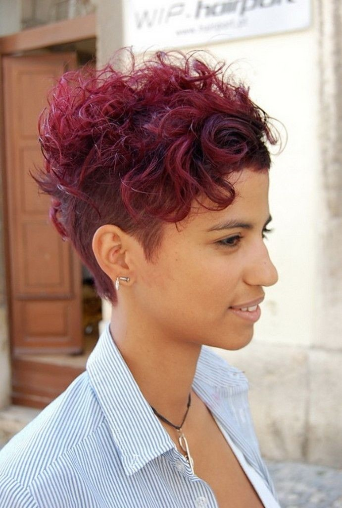 Trendy Shaved Haircut For Short Curly Hair Hairstyles Hair Photo