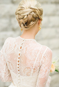 Classic Braided Chignon | Wedding Hairstyles Photos
