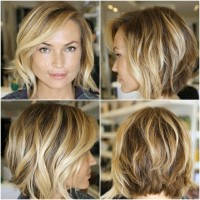 blond highlights bob