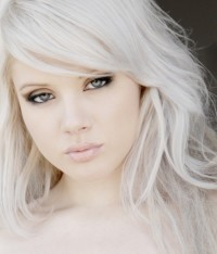 beautiful platinum blond