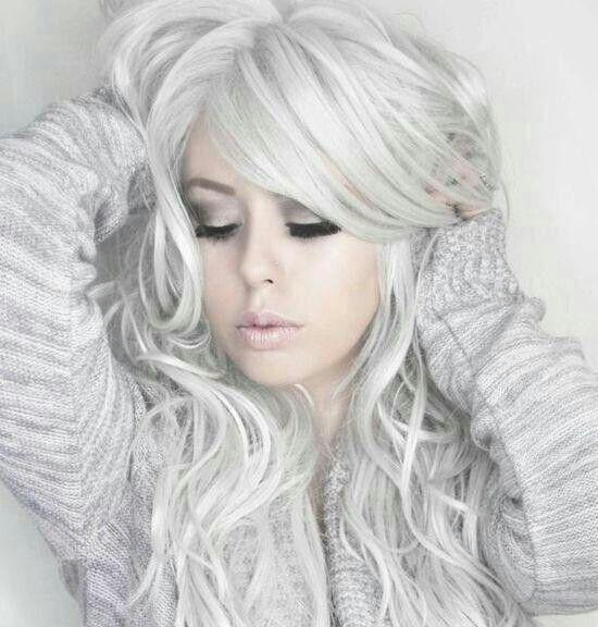 Silver white hair | Hairstyles | Hair-photo.com