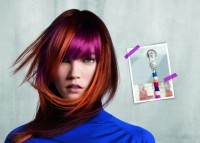 colored hair with bangs