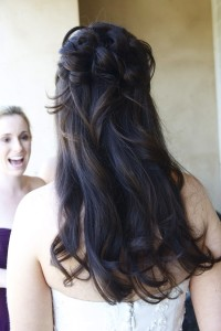 Wedding hairstyle loose hair