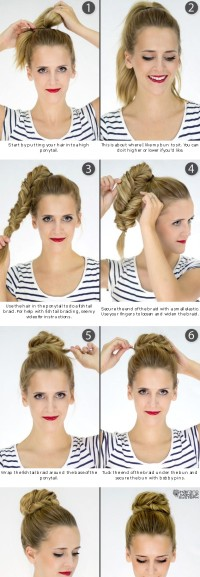 how to make a bun with braid