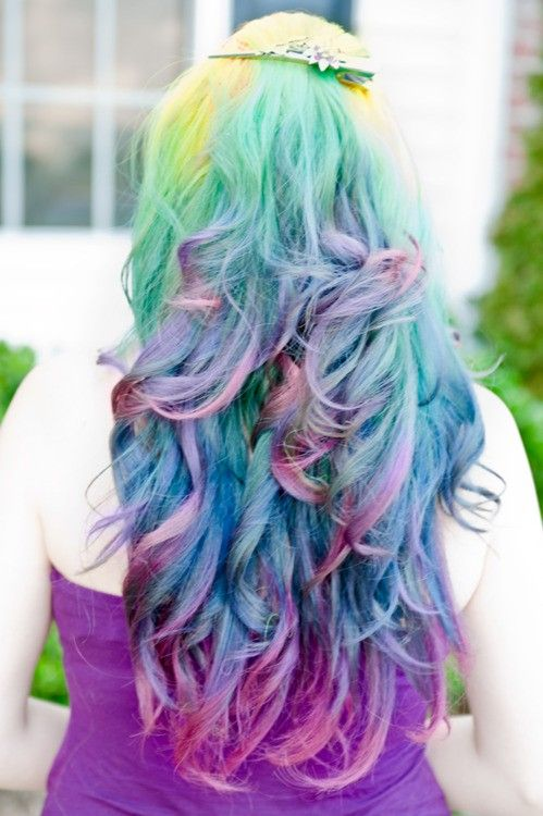 colored long hair