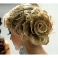 Wedding hairstyle, rose hair