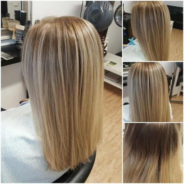 Medium Straight Blond Ombre Hairstyle Hairstyles Hair Photo