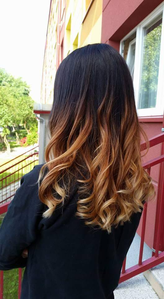 Long Dark Brown Hair With Curls And Blonde Ombre Hairstyles
