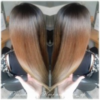 Long, brown, ombre hair