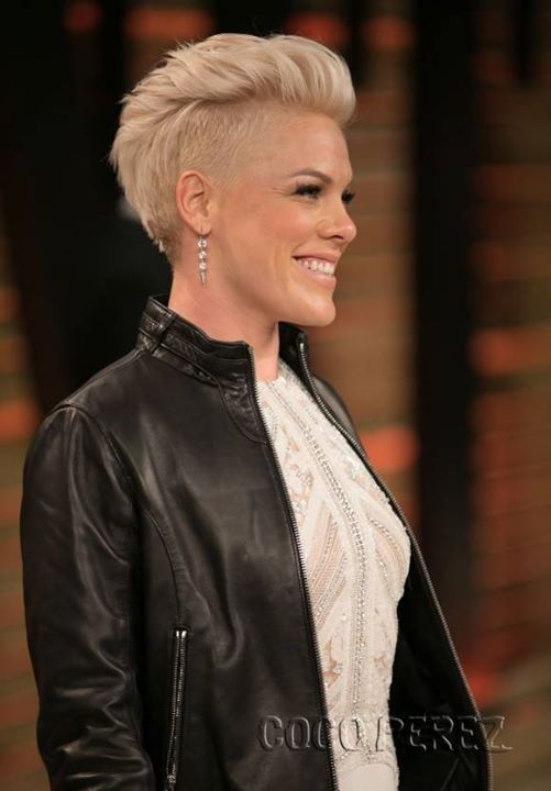 Short Cropped Blonde Hairstyle With Spiky Fringe And