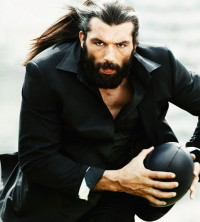 Long hairstyle for men with beard