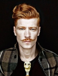 Amazing looking hairstyles for short and natural red haired men with English mustache