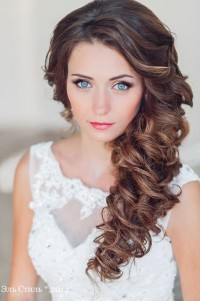 Beautiful long, brown braid for wedding