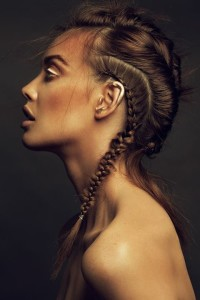 Long, back French braids for brunette