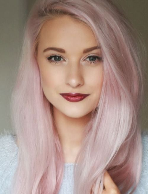 Long Light Pink Hairstyle Hairstyles Hair Photo Com
