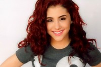 Cute, long, dark red, curly hair