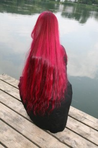 Long, red hair