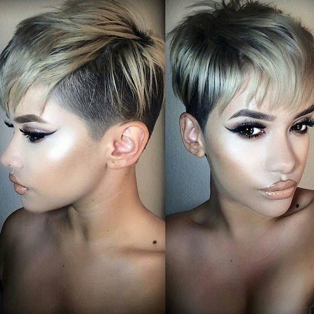 Pixie cut with wispy bangs