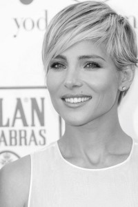 Short, pixie hairstyle