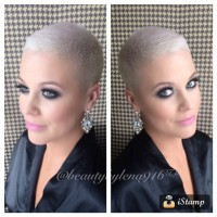 Short hairstyle with trimmered hair and shaved head