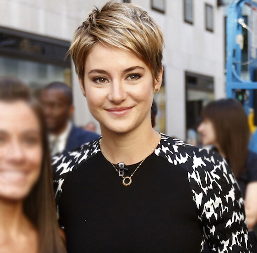 Shailene Woodley' haircut from The Divergent series