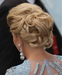 Elegant updo for long, blonde hair