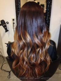Long, dark hair with brown ombre