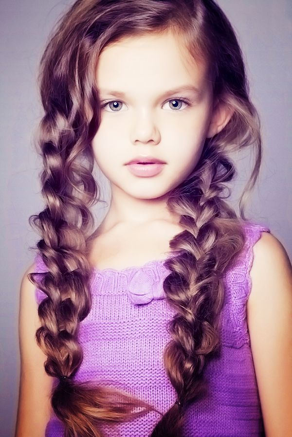 Long, thick braids for girl