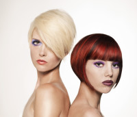 Bowl cut hairstyles for red hair and blonde girls