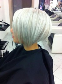 Short, classic, pixie hairstyle for platinum hair