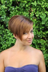 Short, bob, brown hairstyle