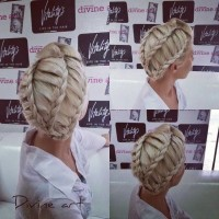 Updo with braids for blonde girls