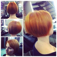 Short, pixie, red hairstyle