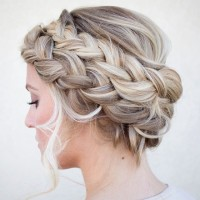 Braided headband for blonde