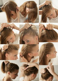a way to do braided bun