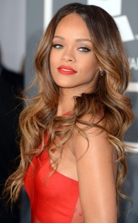 Rihanna's long hairstyle