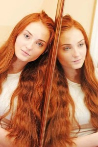 Sophie Turner's red hair