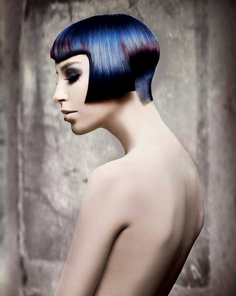 Cleopatra's hairstyle with short, shaved back