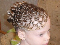 Net braids for girls