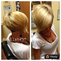 Short, bob, blonde hairstyle