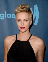 Charlize Theron's updo